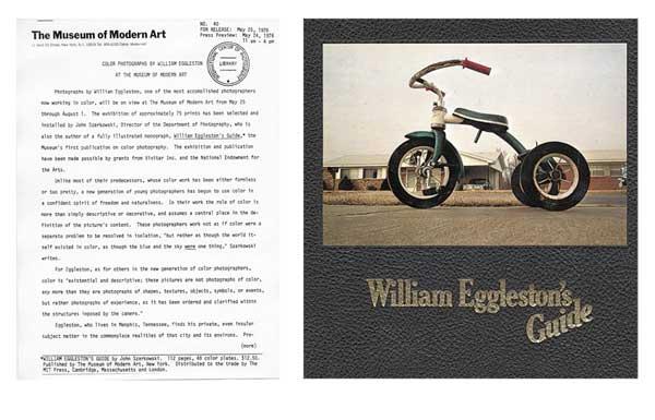 ανακοίνωση έκθεσης του William Eggleston στο MoMA
