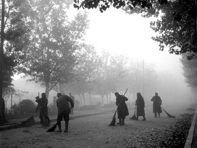 Οδοκαθαριστές στο Αλκαζάρ Λάρισας, 1954