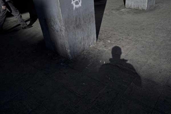 σκιά ανθρώπου, αυτοπορτραίτο