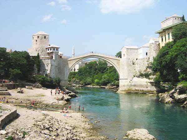 γέφυρα, τοπίο, ποτάμι, Βοσνία