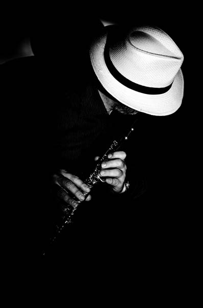 ασπρόμαυρη φωτογραφία, σαξοφωνίστας