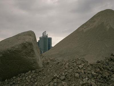 τοπίο στη Λίβανο, χώμα, κτίριο