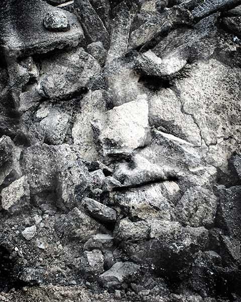 πρόσωπο σχηματισμένο από βράχια
