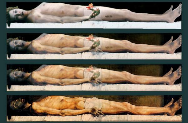 η εξέλιξη ενος γυναικείου σώματος μέσα σε ένα τάφο / τίτλος φωτογραφίας: Emergency exit