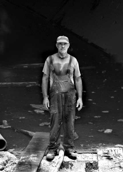 ασπρόμαυρη φωτογραφία, πορτραίτο ενός εργάτη