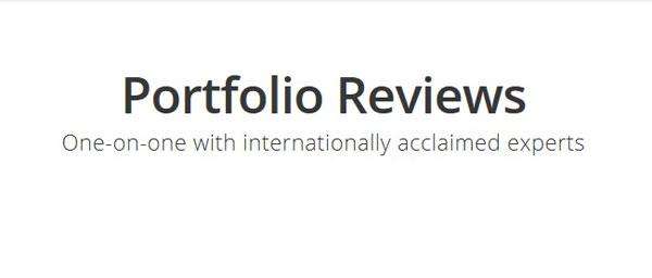 εικόνα που γράφει Portfolio Reviews - One on one with internationally acclaimed experts