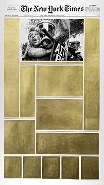 Golden Newspaper Private collection. Courtesy Kalfayan Galleries, Athens - Thessaloniki