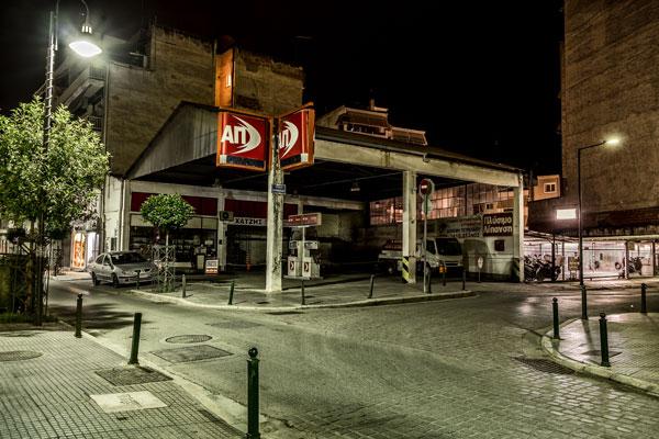 νυχτερινή φωτογραφία, βενζινάδικο
