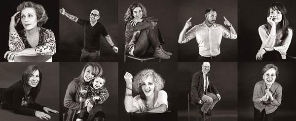 φωτογραφίες λευκώματος, πορτραία νικητών του καρκίνου