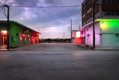 νυχτερινό αστικό τοπίο