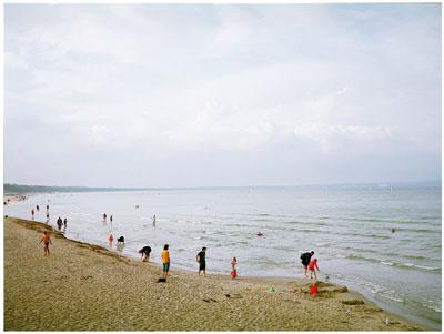 άνθρωποι σε παραλία
