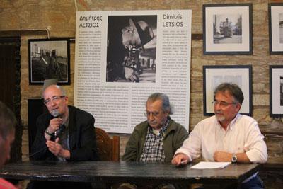 από δεξιά ο Ηρακλής Παπαϊωάννου, ο Νίκος Ακρίβος και ο Νίκος Τσούκας,