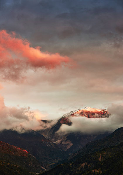 φωτογραφία τοπίου, βουνά, σύννεφα