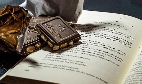 Νικήτρια φωτογραφία του διαγωνισμού, σοκολάτα, βιβλίο