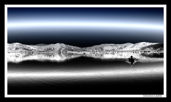 τοπίο λίμνης Καστοριάς