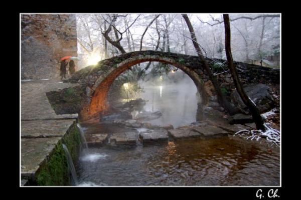 γέφυρα, πηγές Κρύας Λιβαδειάς