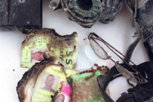 Τα προσωπικά αντικείμενα και ο φωτογραφικός εξοπλισμός του Bill Biggart