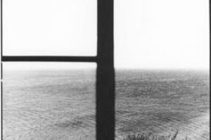 ασπρόμαυρη φωτογραφία, παράθυρο στη θάλασσα