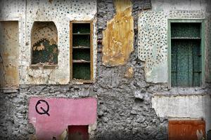 παλιός τοίχος με χρώματα