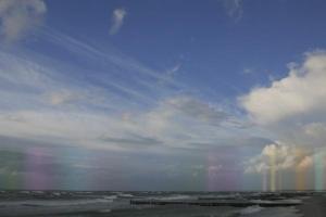 ορίζοντας, θάλασσα, ουράνιο τόξο