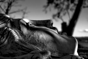 ασπρόμαυρη φωτογραφία, κεφάλι αγάλματος