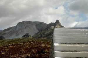σκαλιά, βουνό