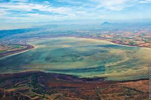 αεροφωτογραφία, λίμνη, τοπίο
