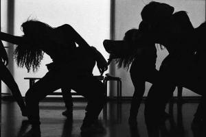 ασπρόμαυρη φωτογραφία, χορεύτριες
