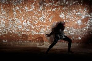 χορευτής, σκηνή από χορευτική παράσταση