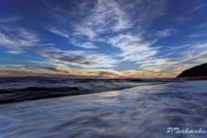 θάλασσα, κύμματα, ορίζοντας