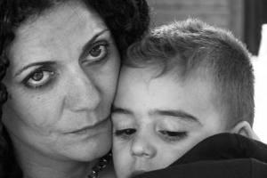 πορτραίτο μητέρας με τον γιό της