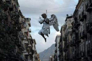 κτίρια. άγγελος, στολισμός