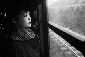 Michiko on the Train to Tokyo, Japan, 1951