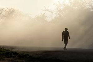Βολιβία, ομίχλη, παιδί