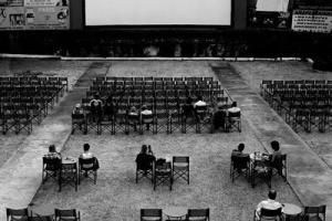 ασπρόμαυρη φωτογραφία, θερινό σινεμά