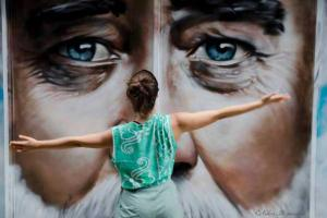 φωτογραφία, graffiti, γυναίκα