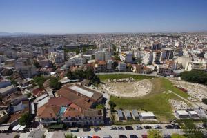αεροφωτογραφία της πόλης της Λάρισας