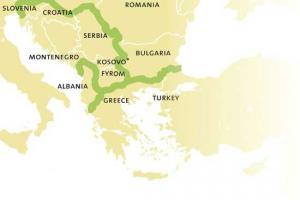 χάρτης Βαλκανικής πράσινης ζώνης