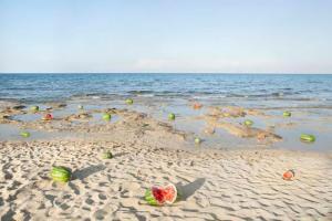 καρπούζια σε παραλία