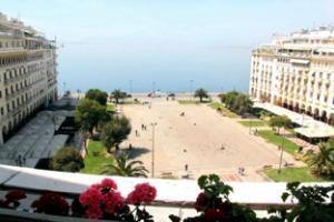 άποψη παραλίας Θεσσαλονίκης από την Οικία Τέλλογλου
