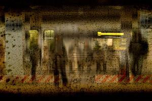 αντανακλάσεις ανθρώπων, παράθυρο τρένου