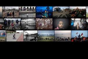 κολάζ φωτογραφιών της έκθεσης