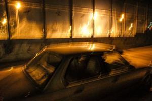 νυχτερινή φωτογραφία, αυτοκίνητο