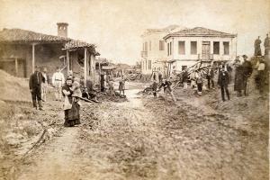 Δρόμος Λάρισας λίγες μέρες μετά την πλημμύρα του 1883